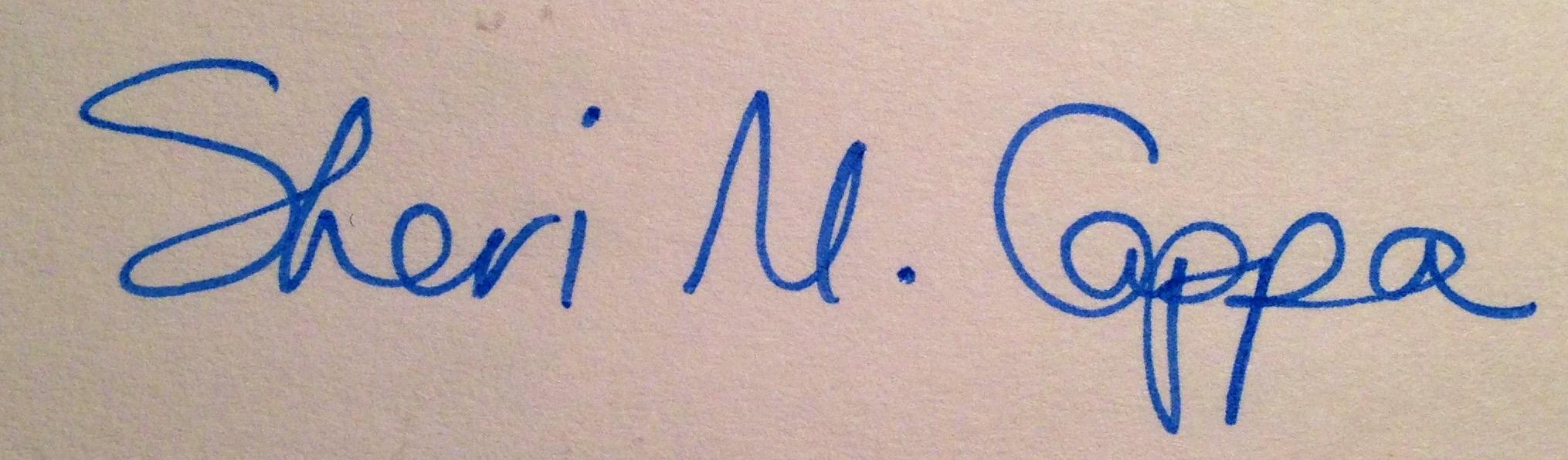 Sheri Cappa's Signature