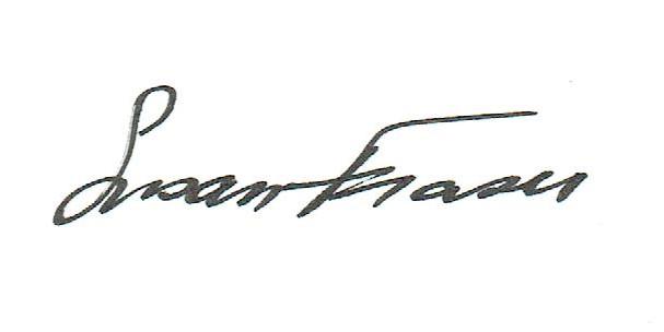 Susan Fraser's Signature