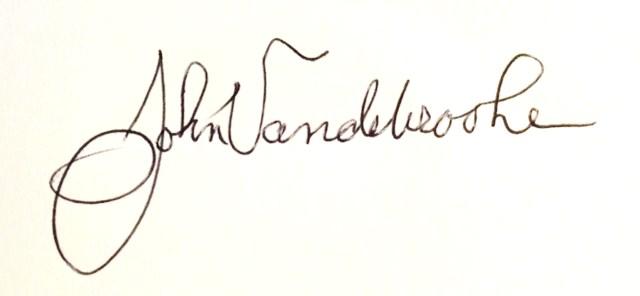 john Vandebrooke's Signature