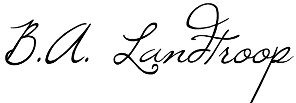 B A Landtroop's Signature