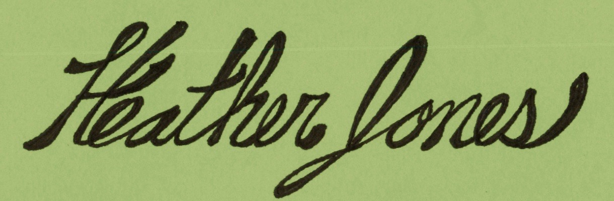 Heather Jones's Signature