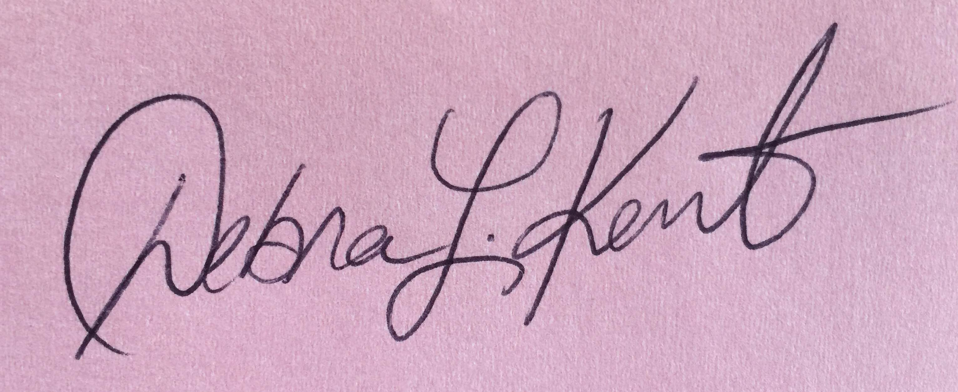 Debra Kent's Signature
