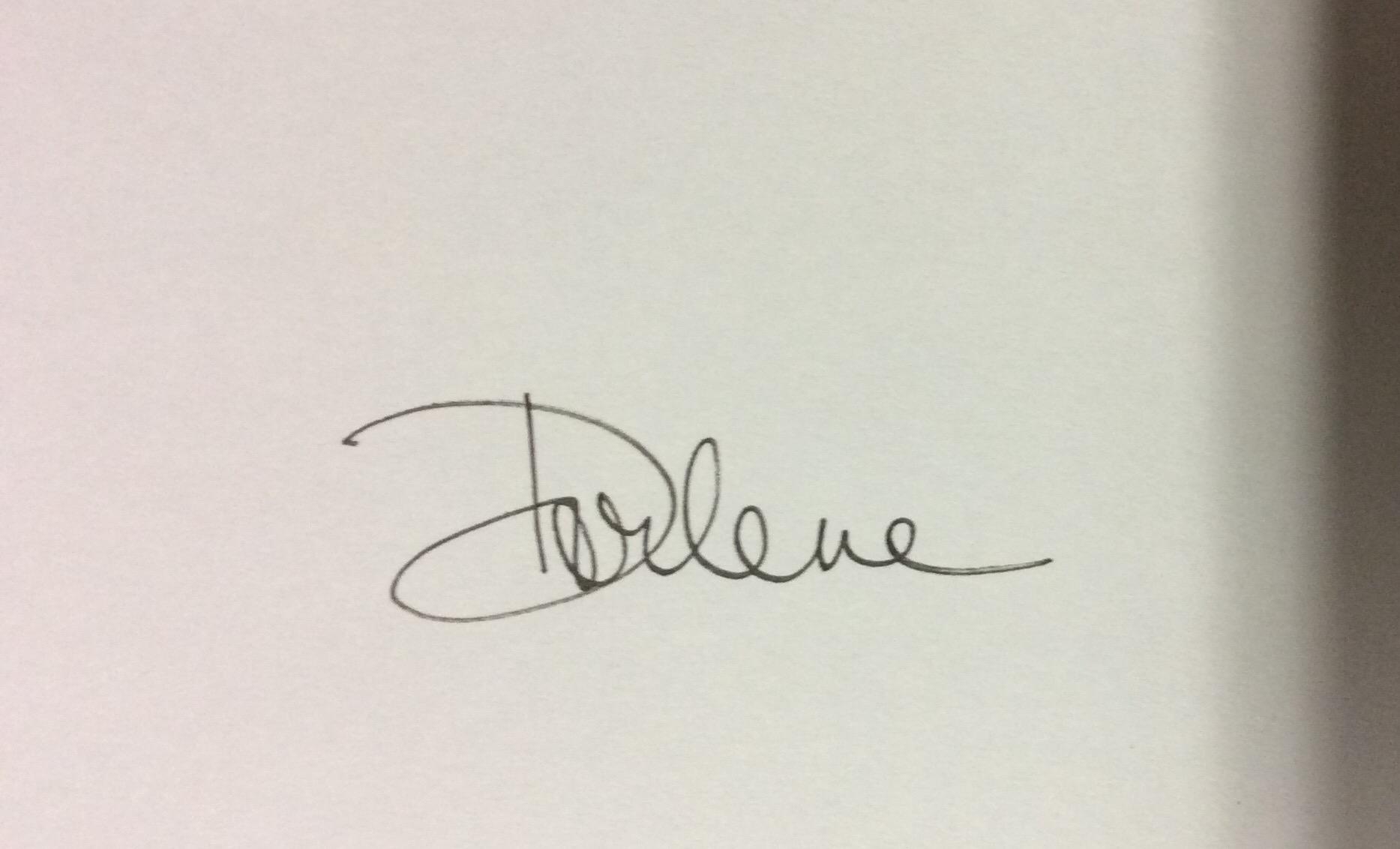 Dorlene Durham's Signature