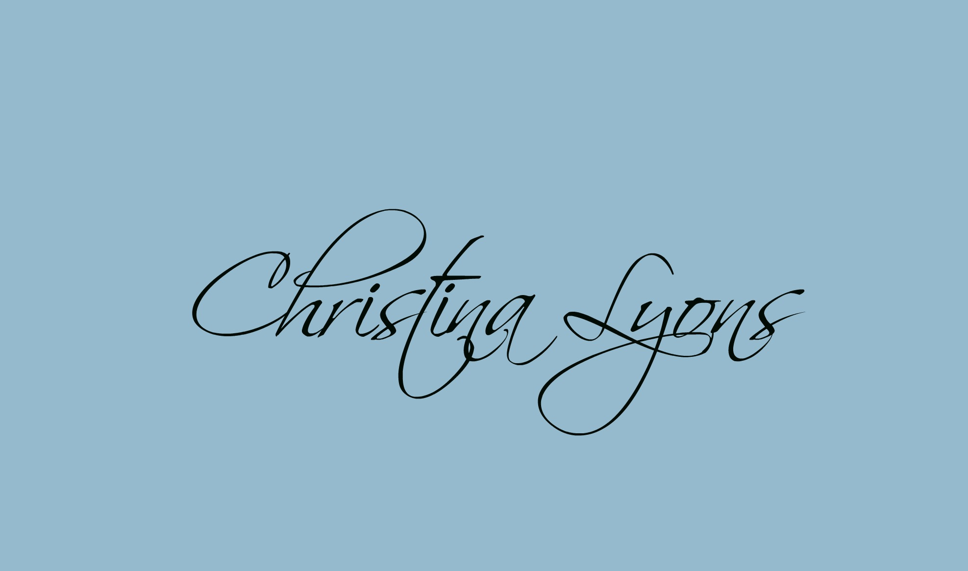Christina Lyons's Signature