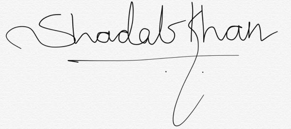 Shadab  Khan's Signature