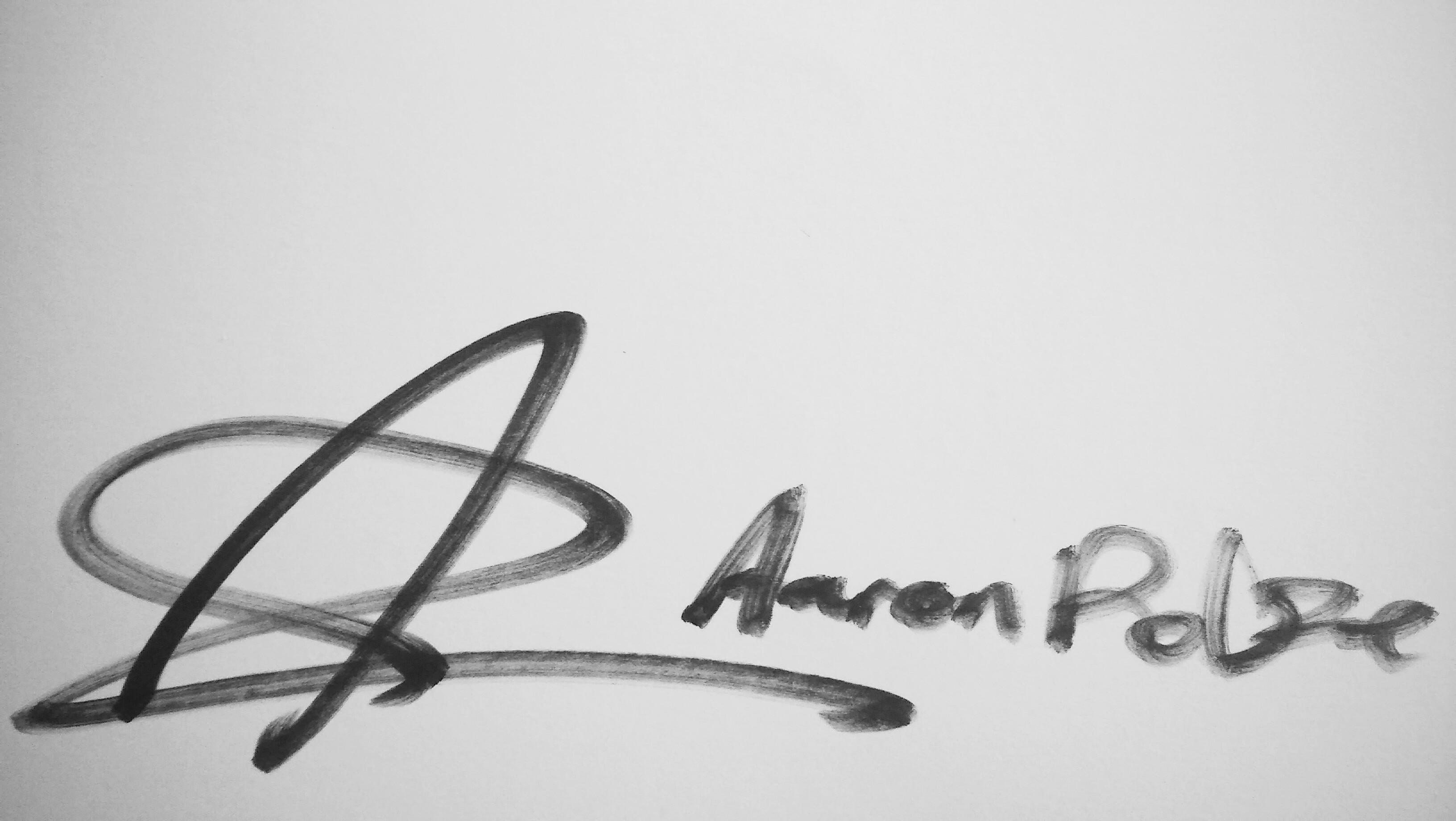 Aaron Rolfe's Signature