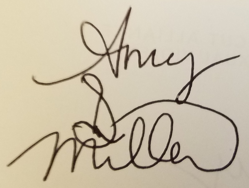 Amy Dustan Miller's Signature
