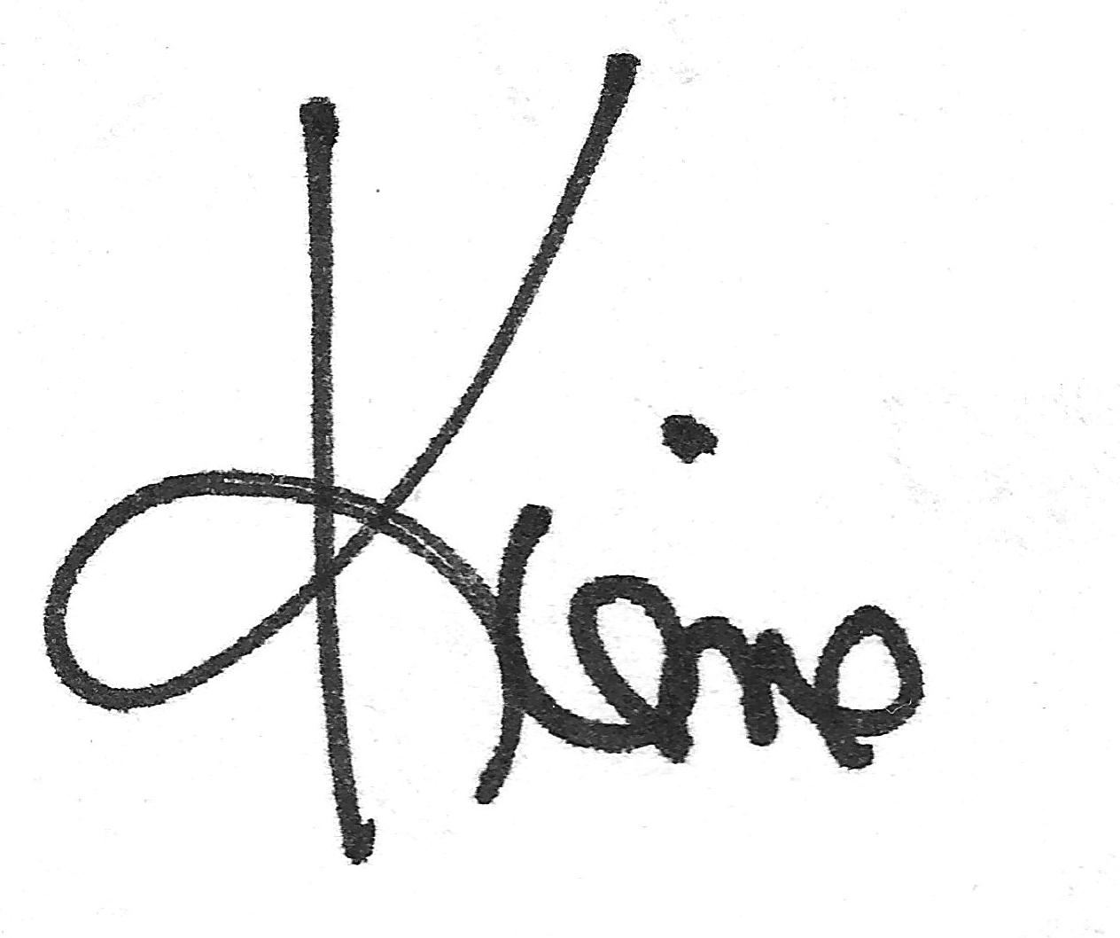 Kiene's Signature