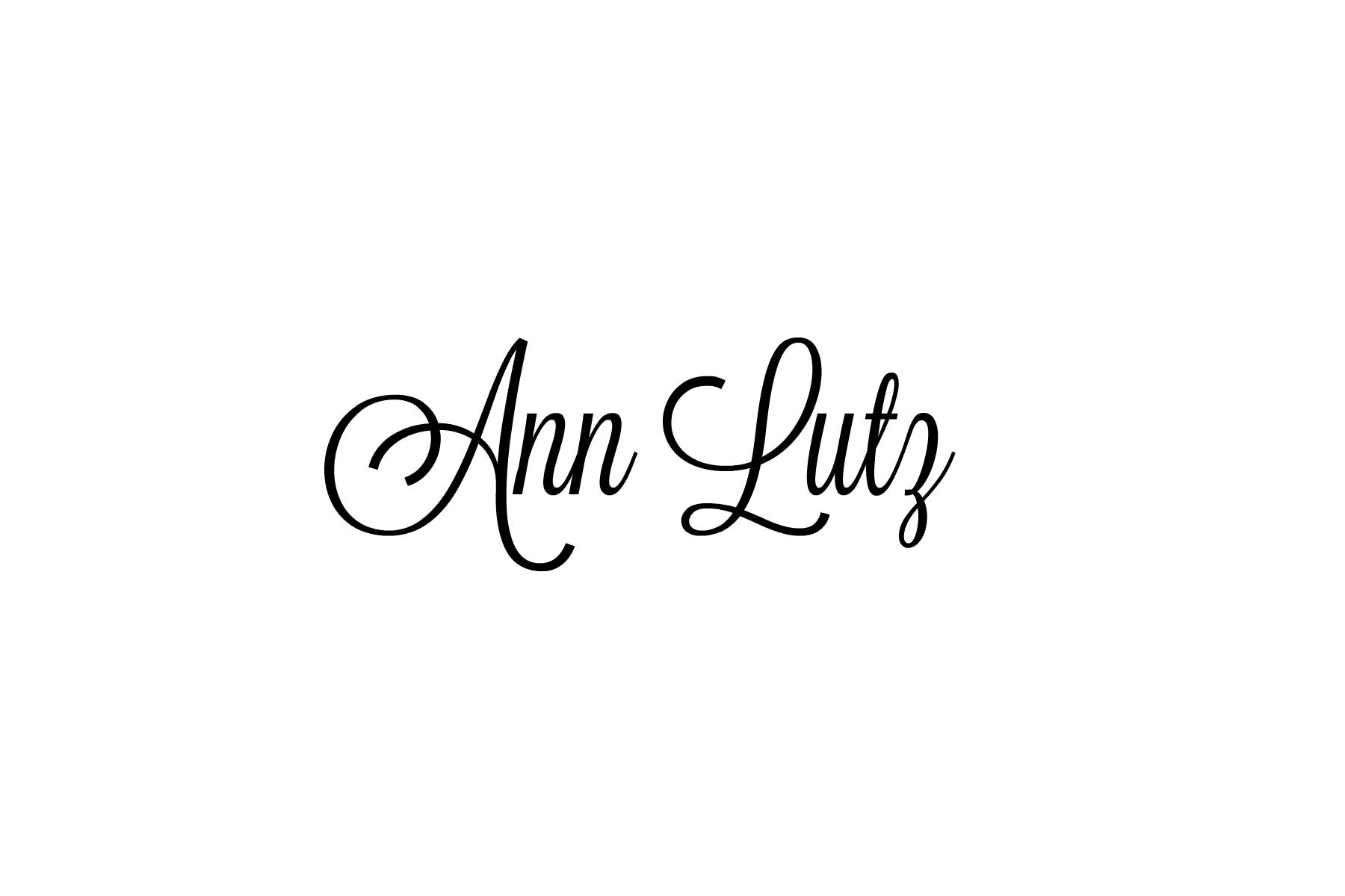 Ann Lutz's Signature