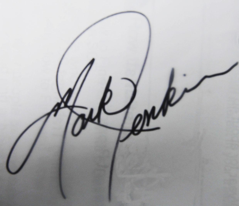 Mark Jenkins's Signature