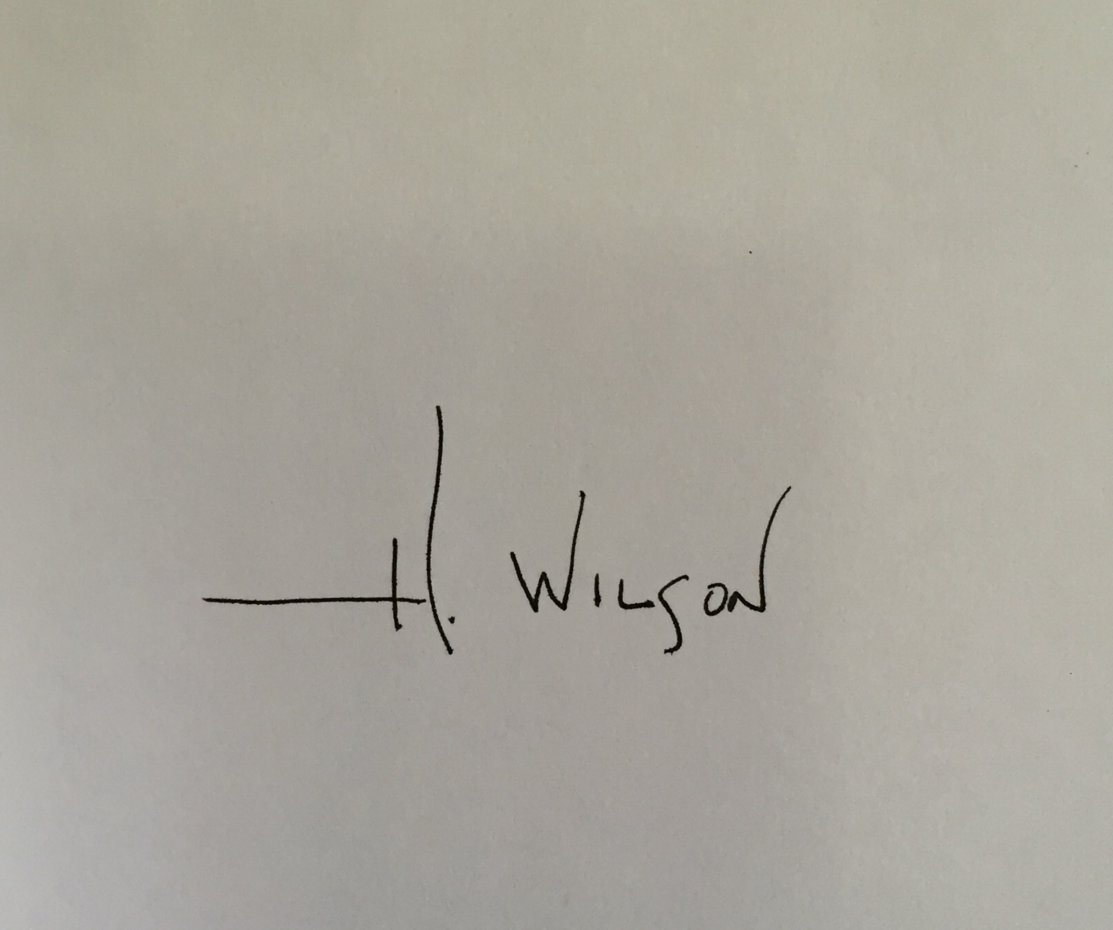 Holly Wilson's Signature