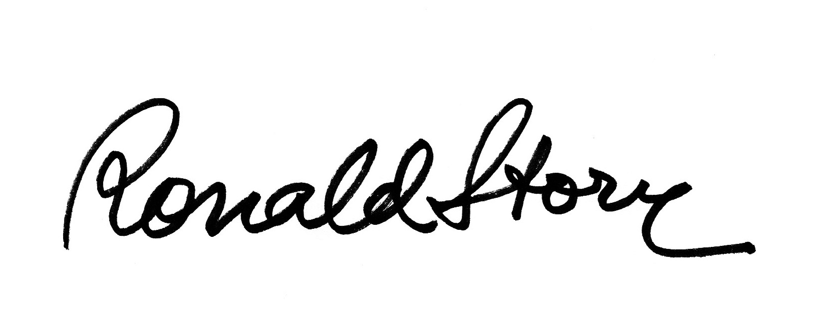 RONALD STORY's Signature