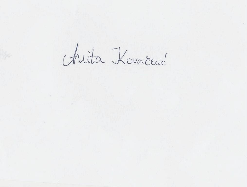 Anita Kovacevic's Signature