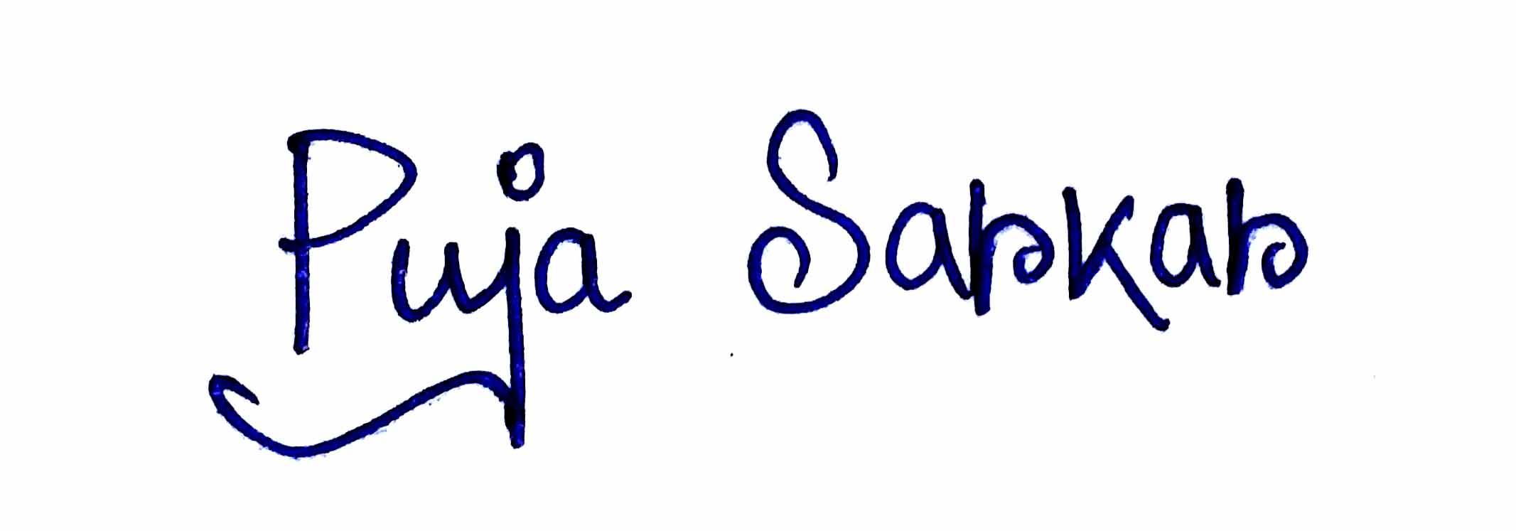 Puja Sarkar's Signature