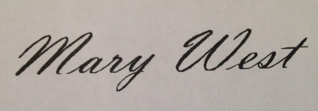 Mary Kay West's Signature