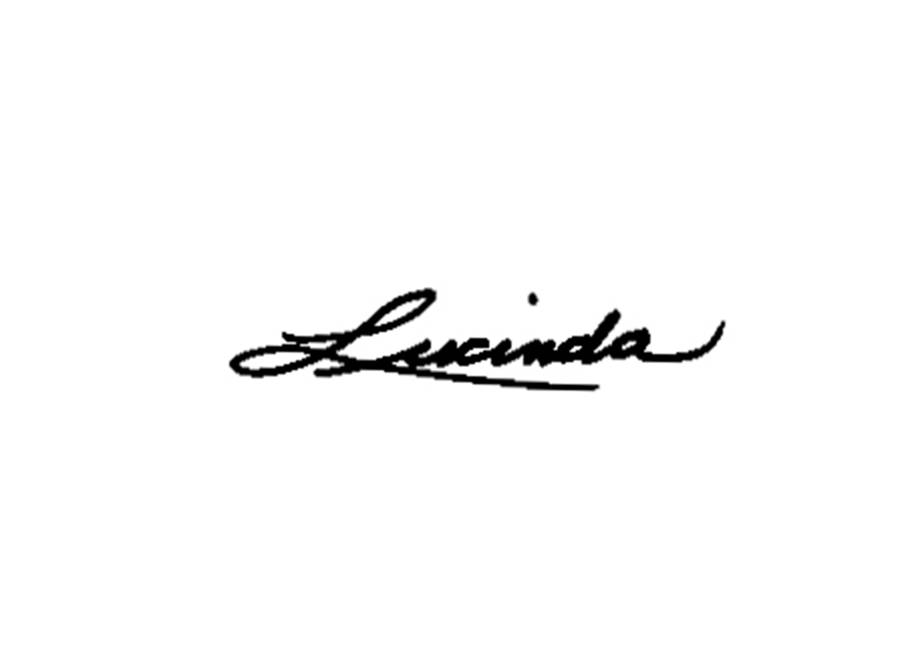 Lucinda Moriarty's Signature