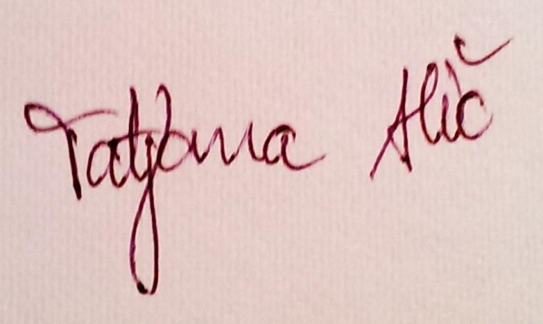 Tatjana Alic's Signature