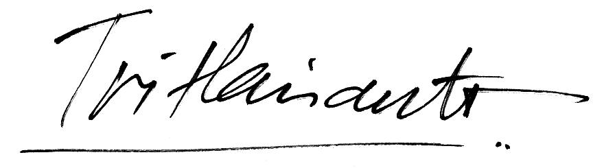 Tri Harianto's Signature