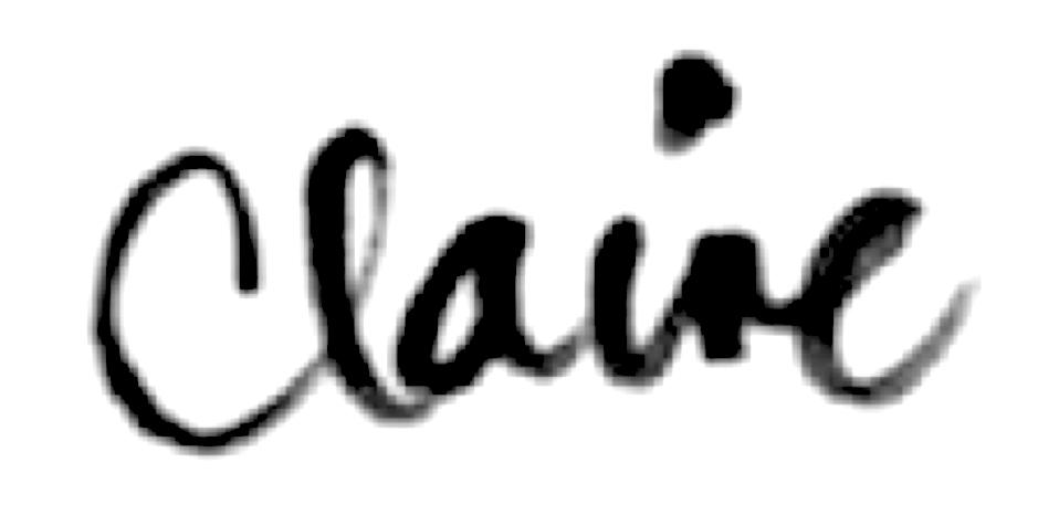 Claire Hudson's Signature