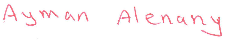 Ayman Alenany's Signature
