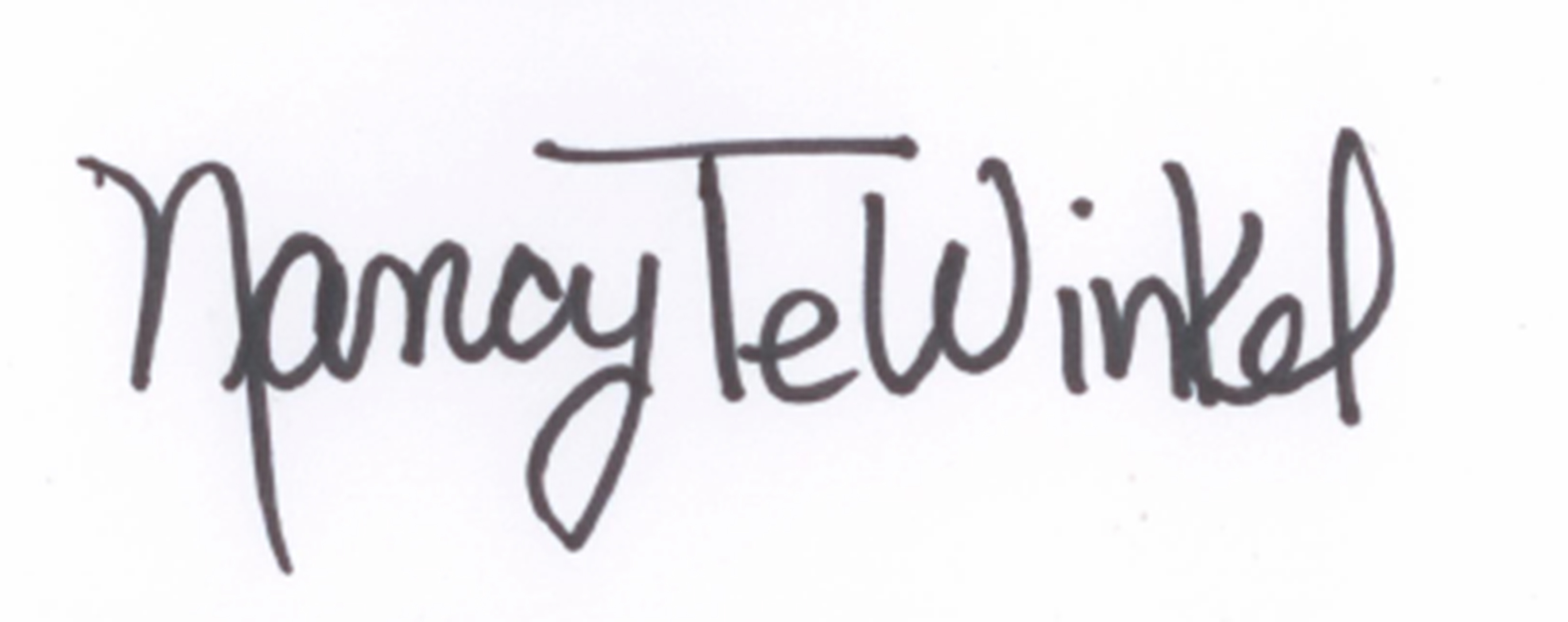 Nancy TeWinkel's Signature