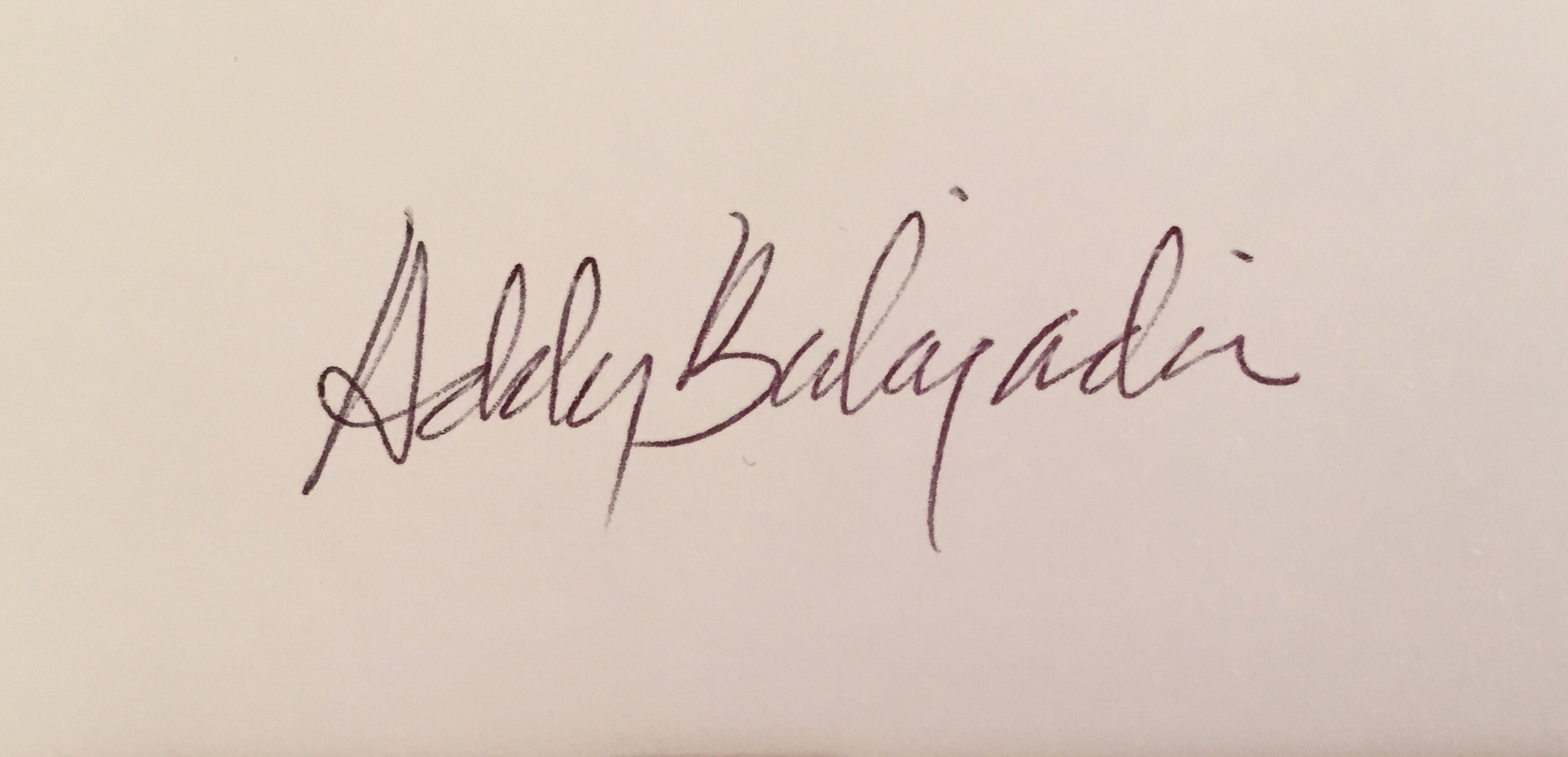 Addy Balajadia's Signature