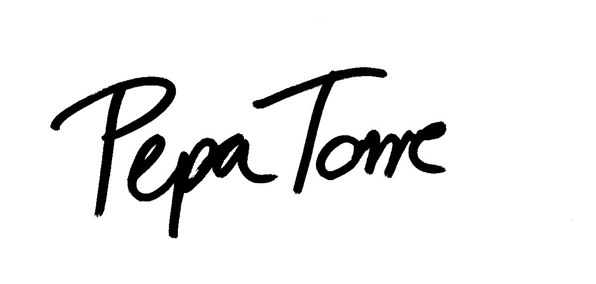 Pepa Torre's Signature