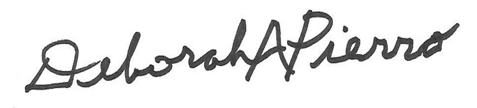 Deborah Pierro's Signature