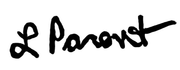 Leslie Parent's Signature