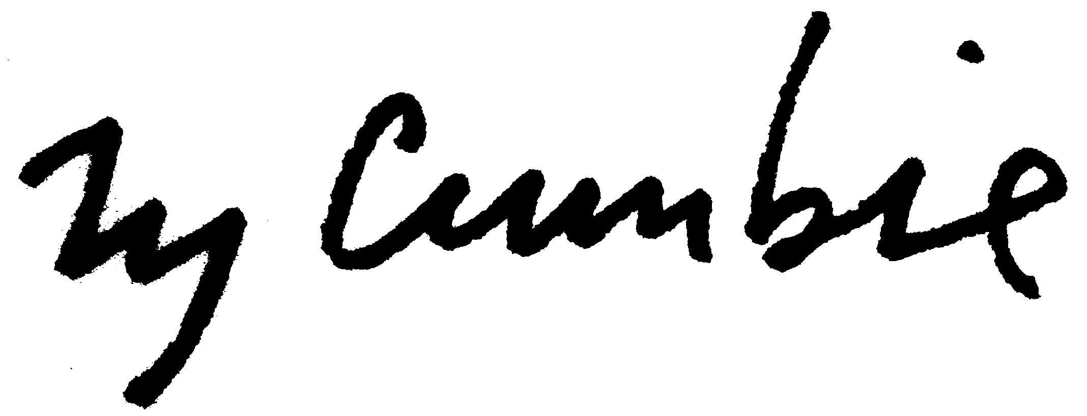 Ty Cumbie's Signature