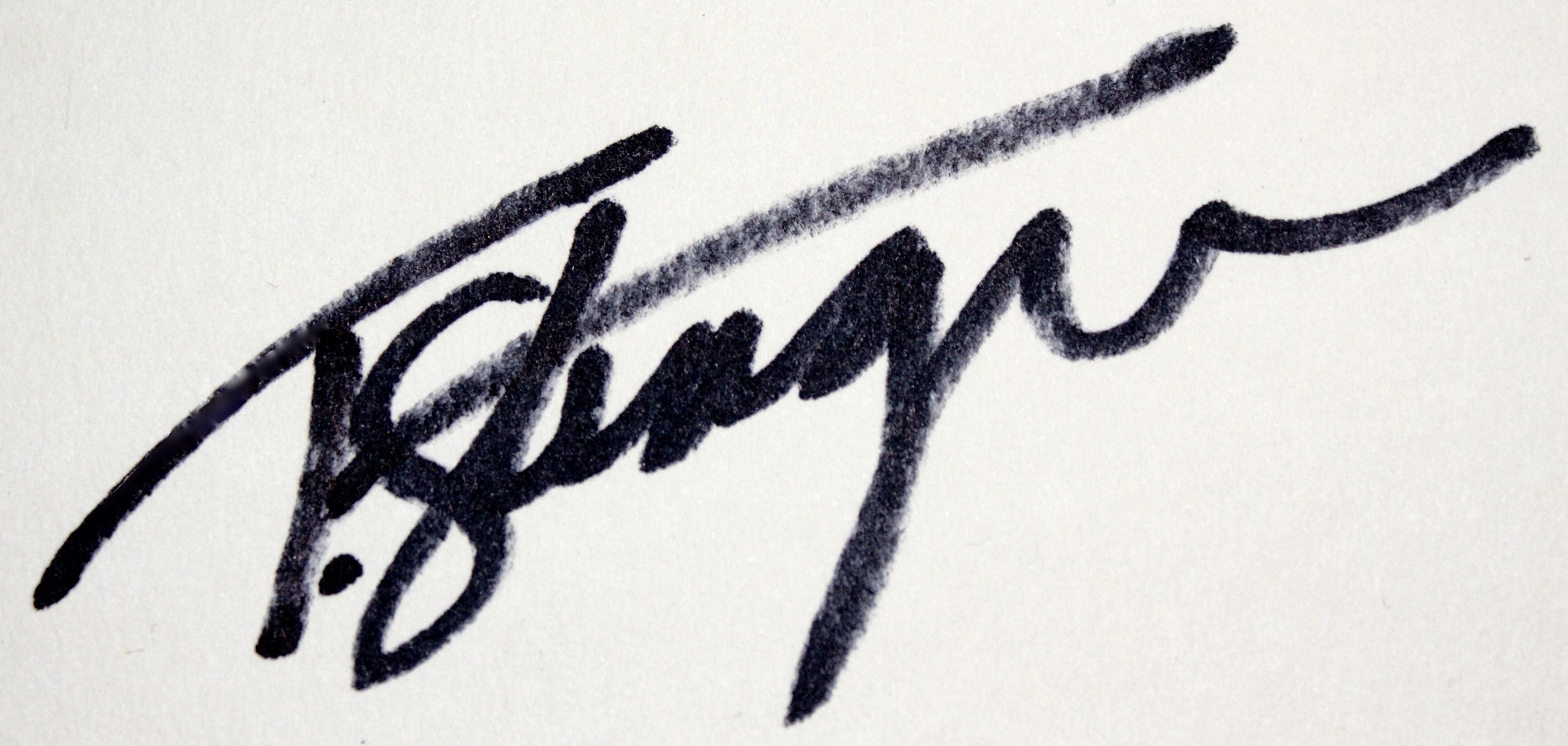 Tony Stenger's Signature
