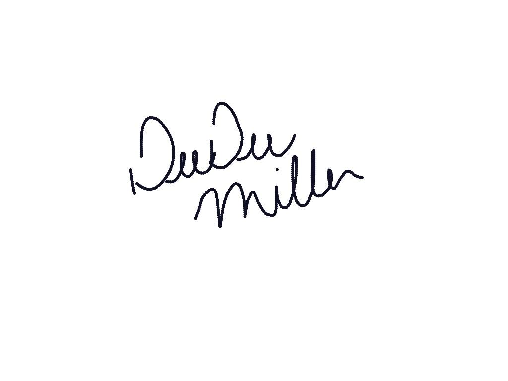 DeeDee Miller's Signature