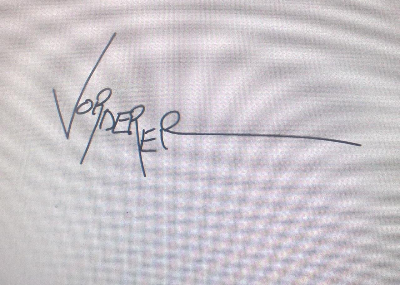 Linda Vorderer's Signature