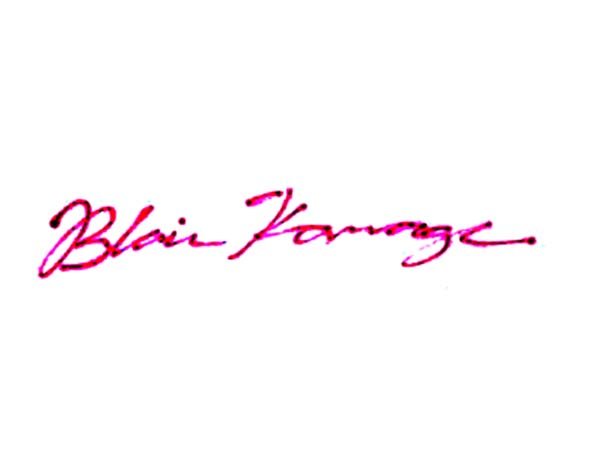 Blair Kamage's Signature