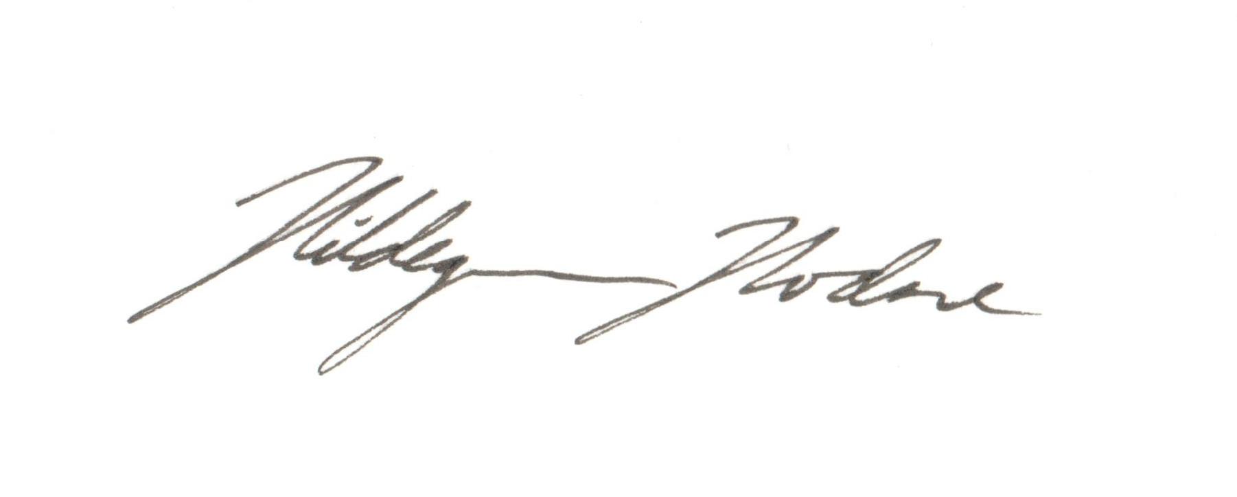 Hildegunn Hodne's Signature