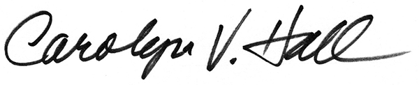 Carolyn Vosburg Hall's Signature