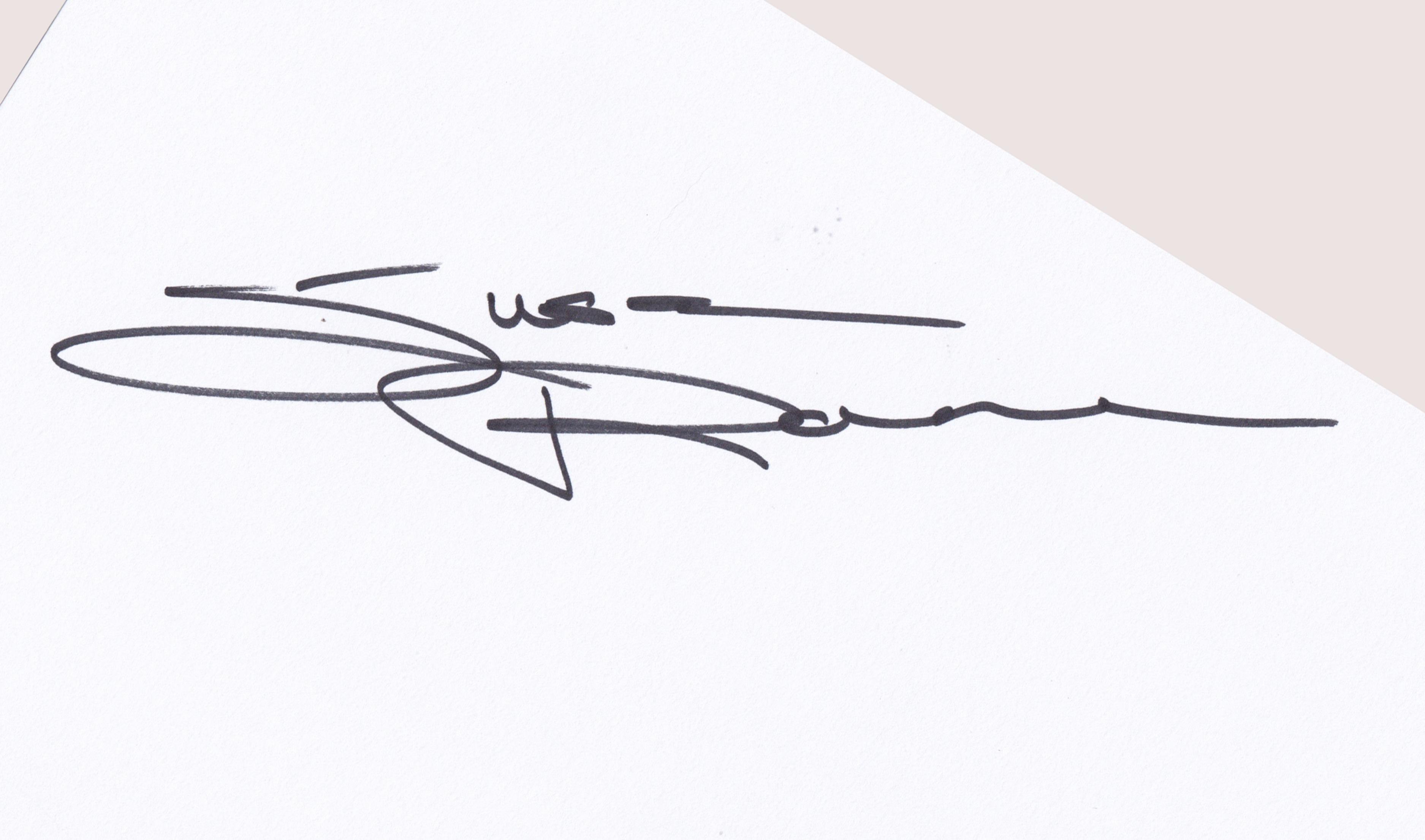 Susan Raine's Signature