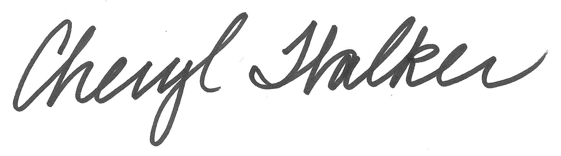 cheryl walker's Signature