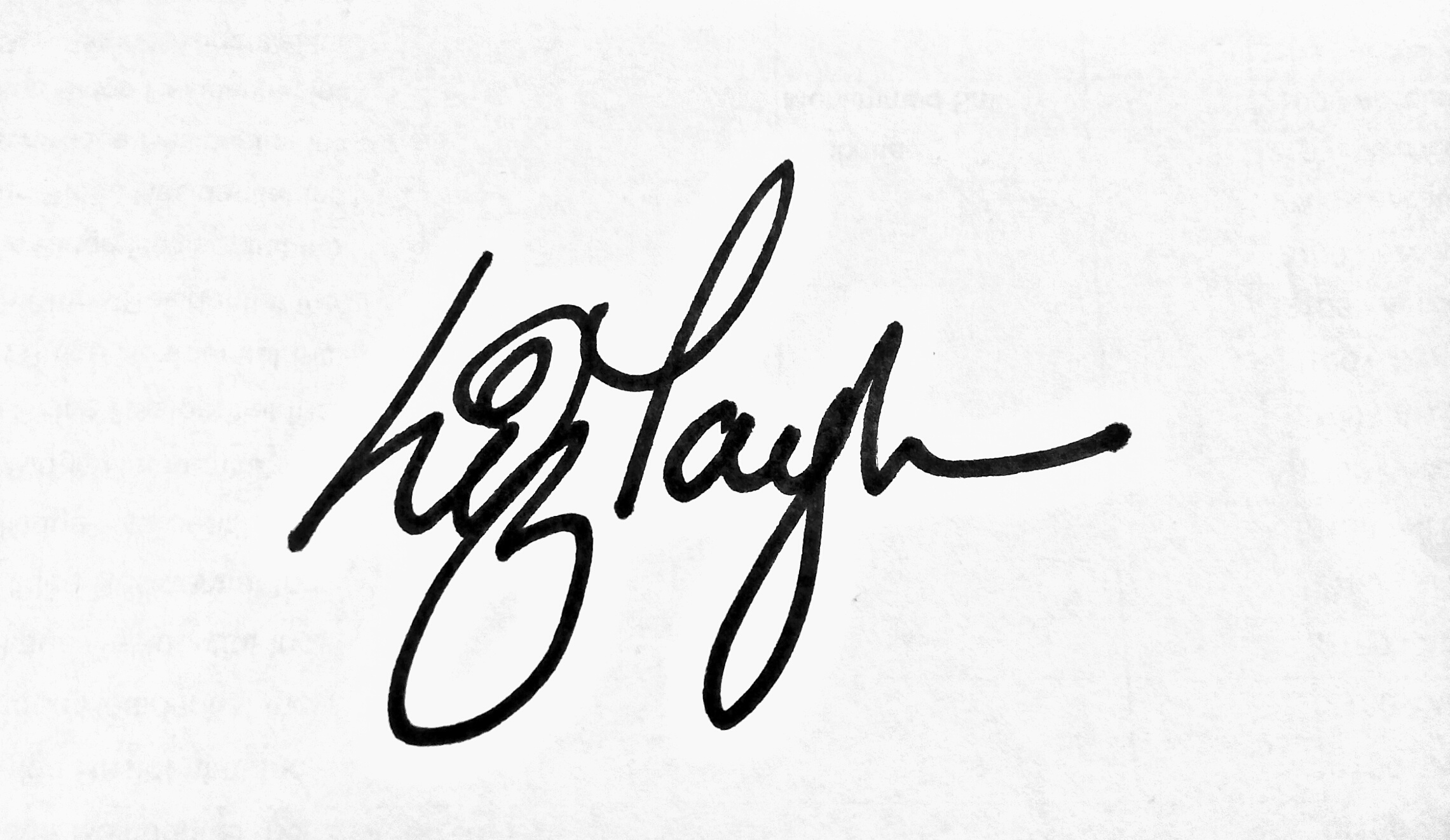 Liz Taylor's Signature