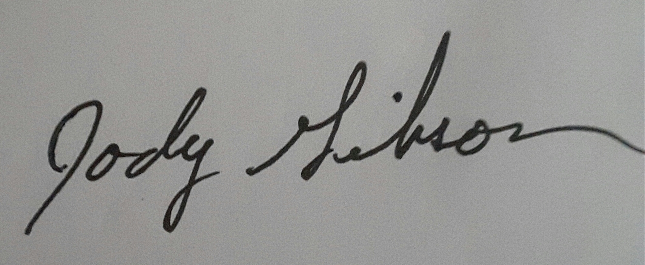 Jody Gibson's Signature