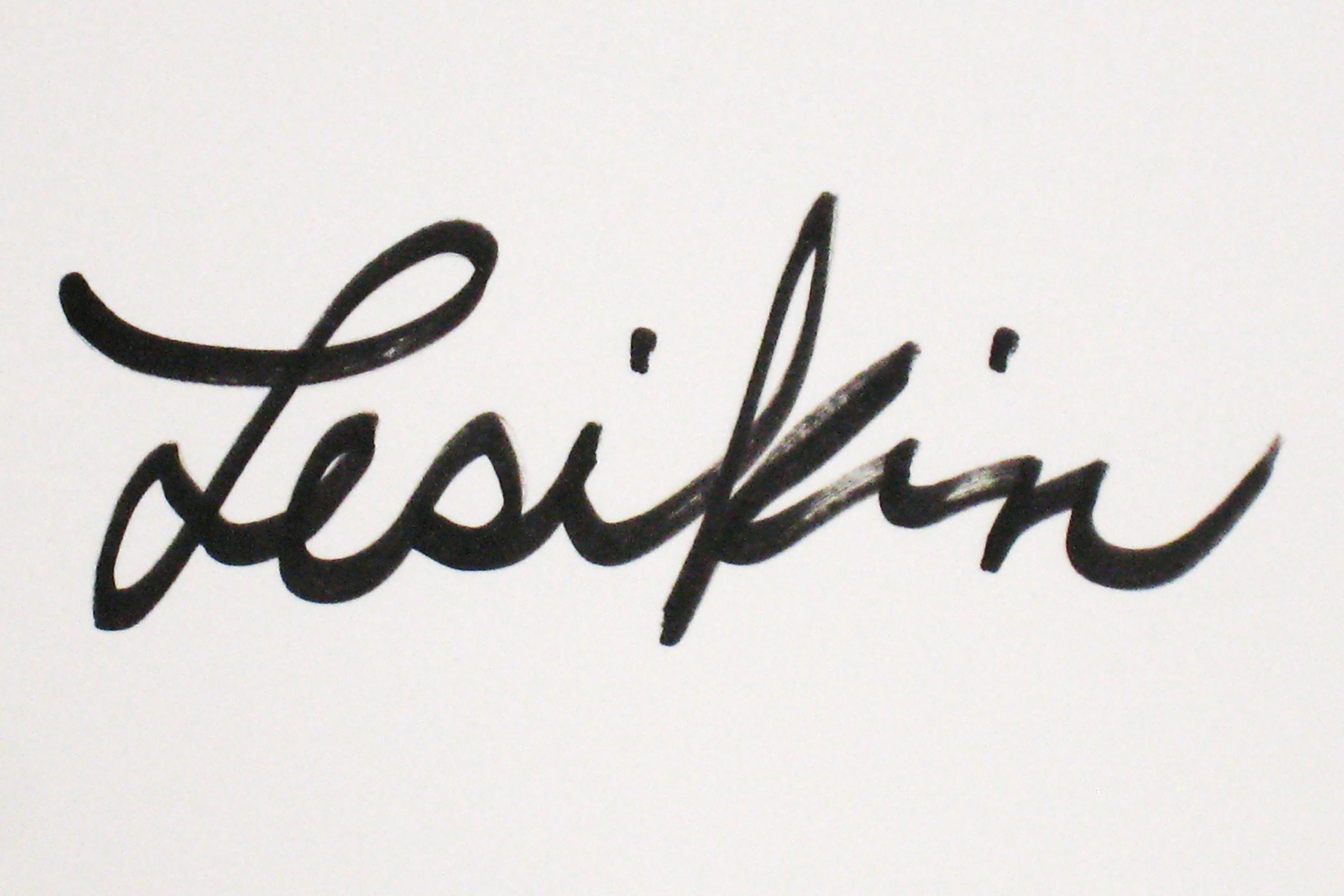 Joan Lesikin's Signature