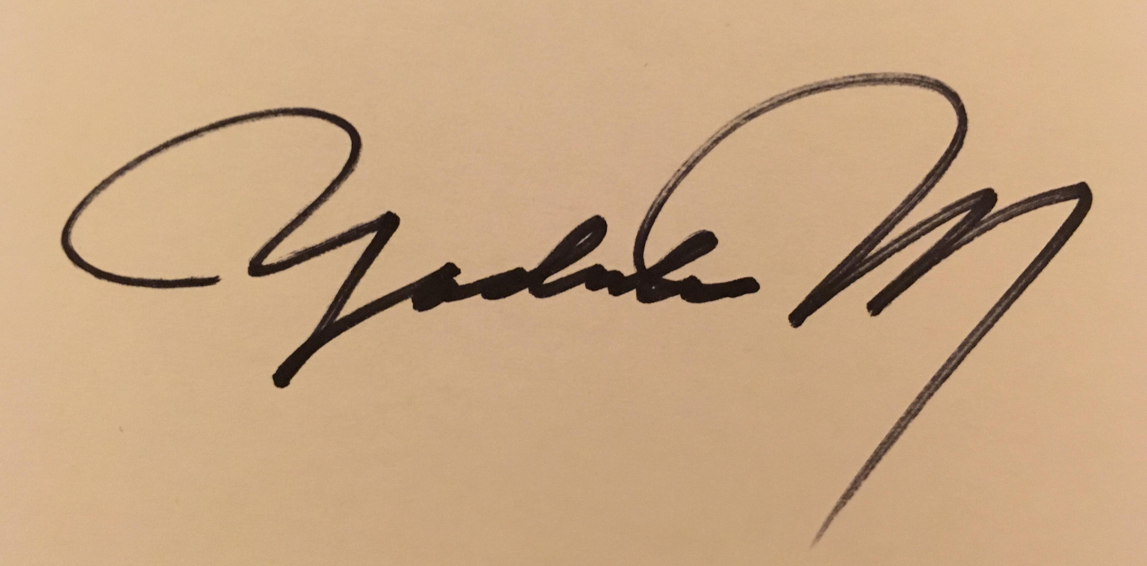 Yoshiko Murdick's Signature
