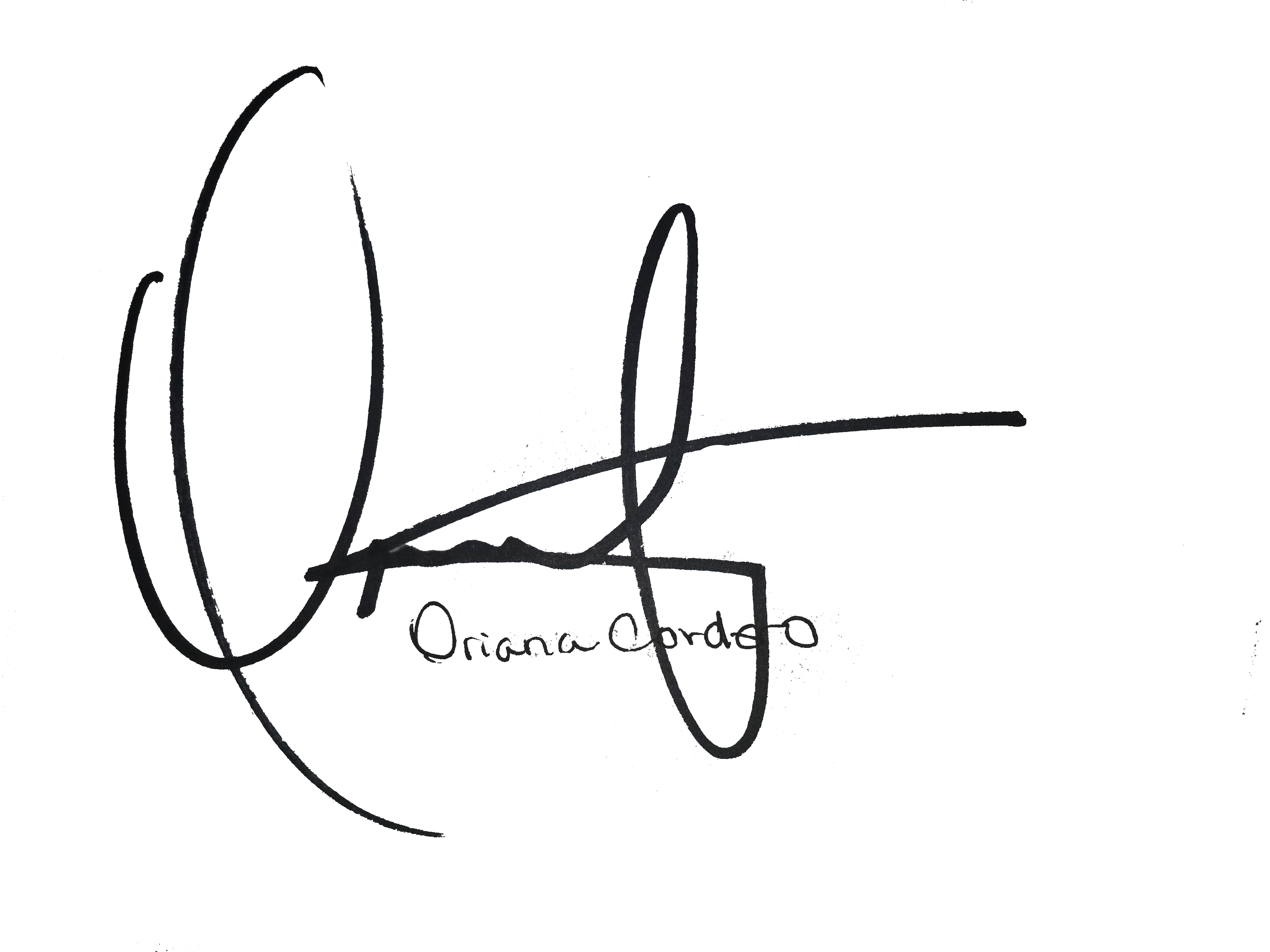 Oriana Cordero's Signature
