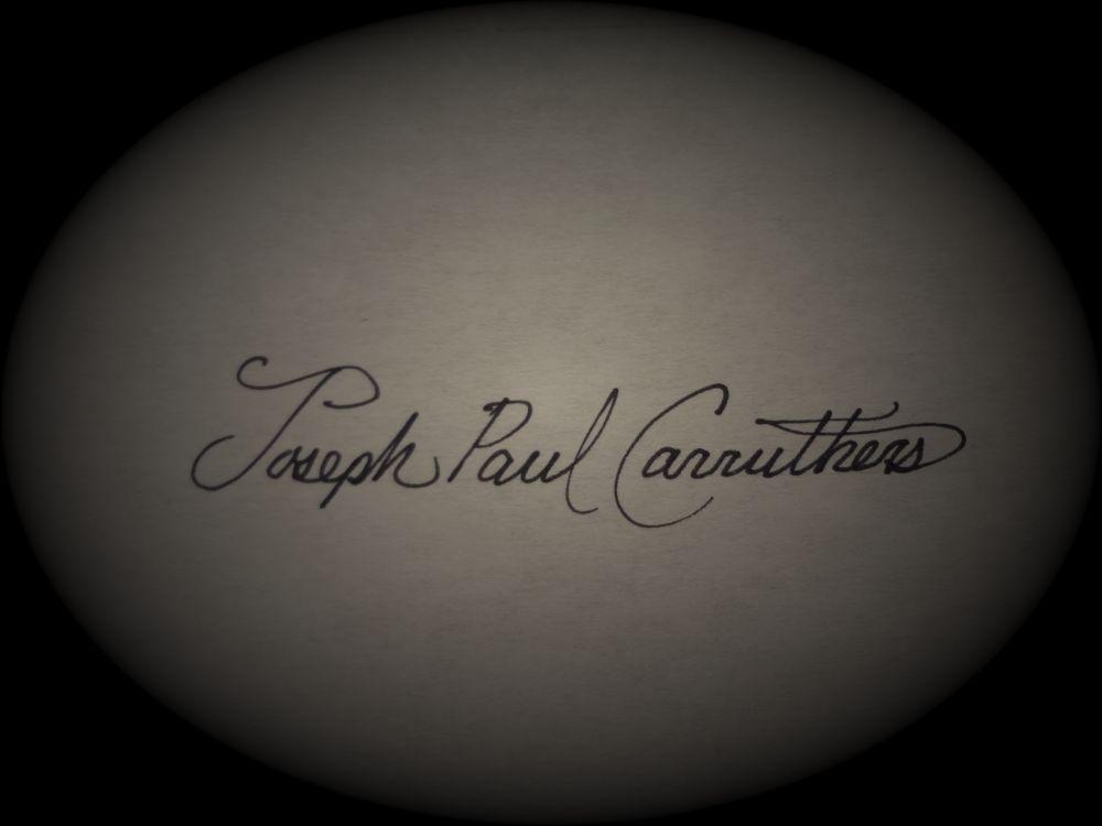 Joseph Paul carruthers's Signature