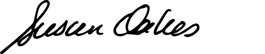 Susan Oakes's Signature