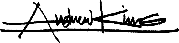Andrew King's Signature