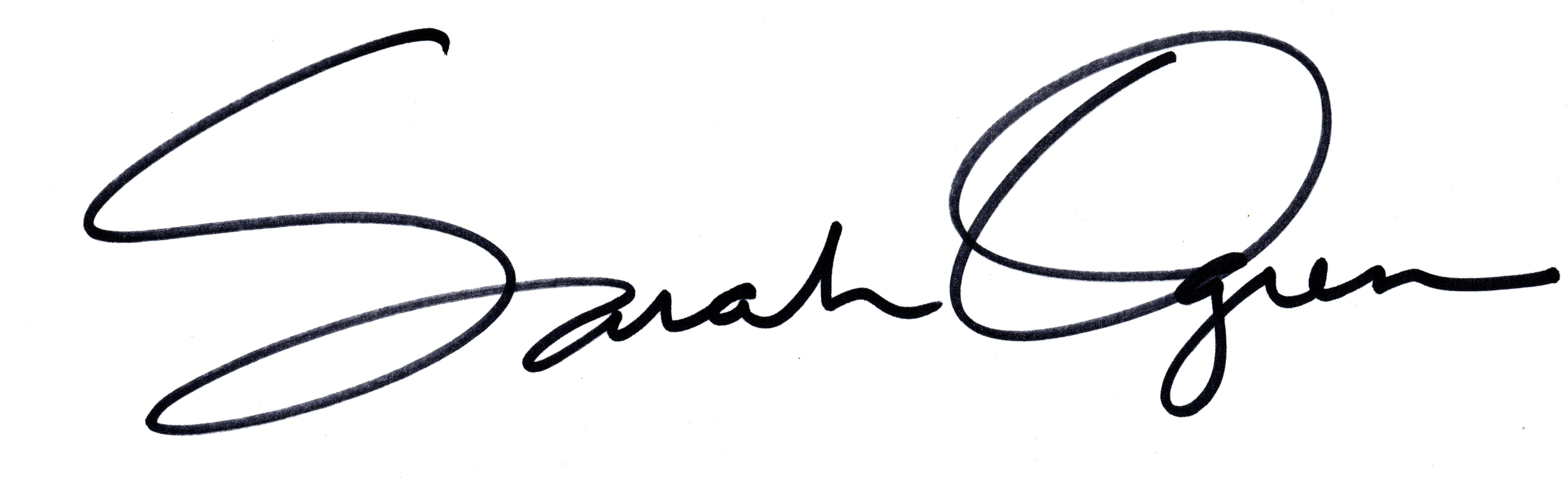 Sarah Ogren's Signature