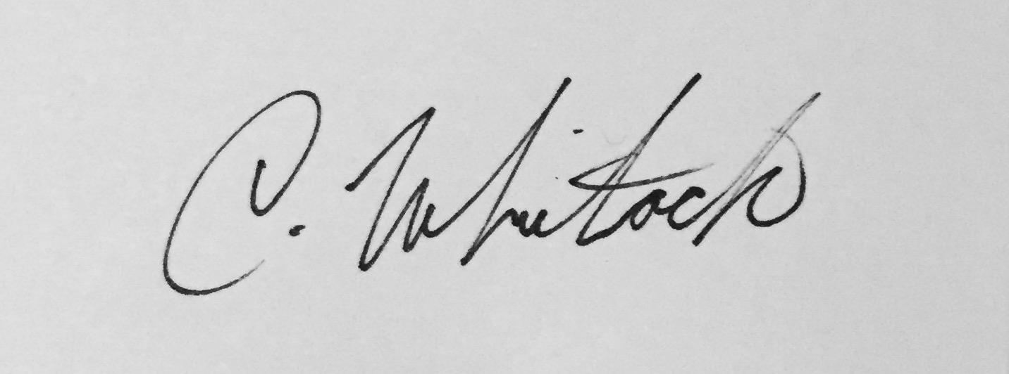 Christine Whitlock's Signature