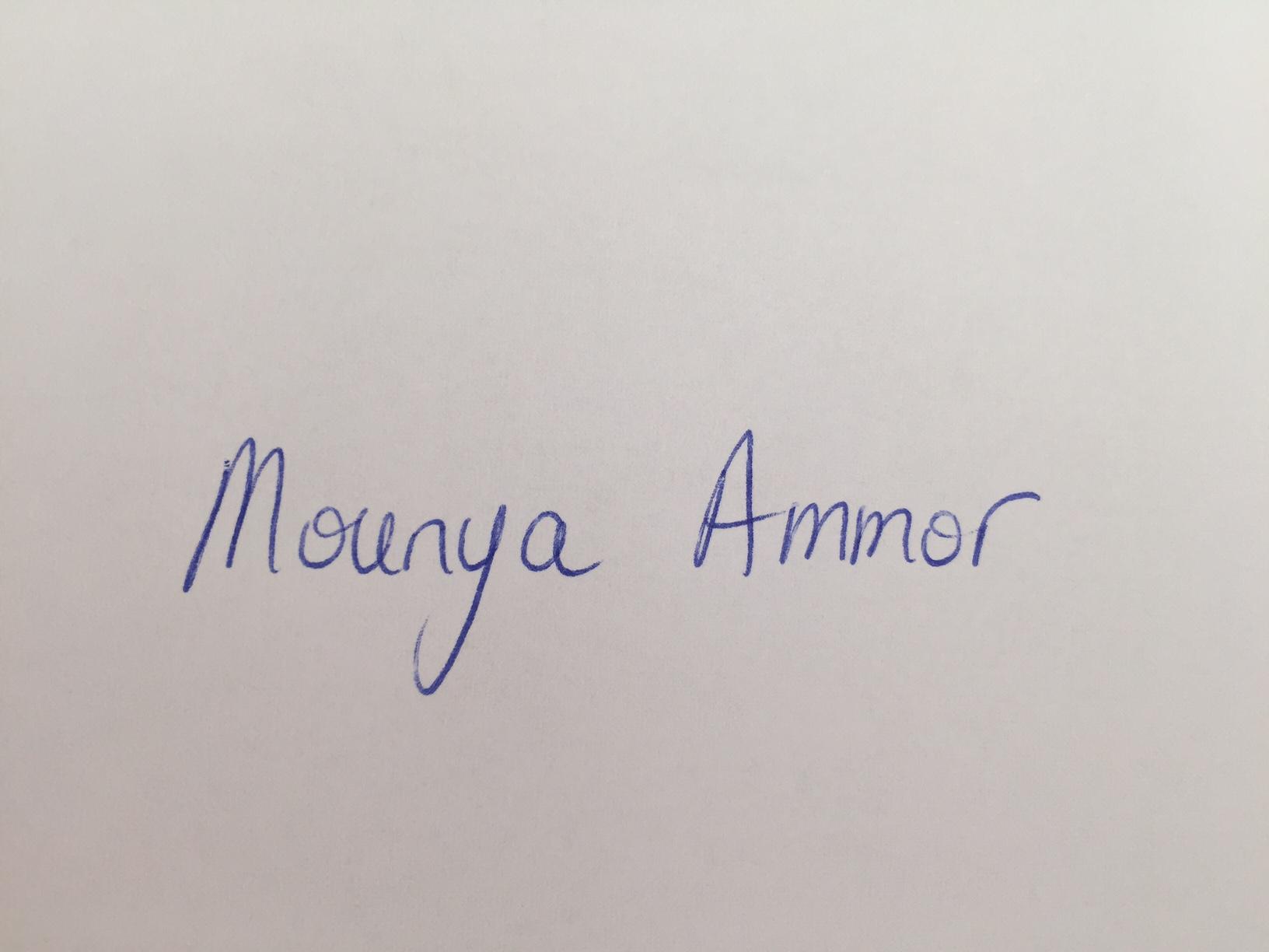 MOUNYA AMMOR's Signature