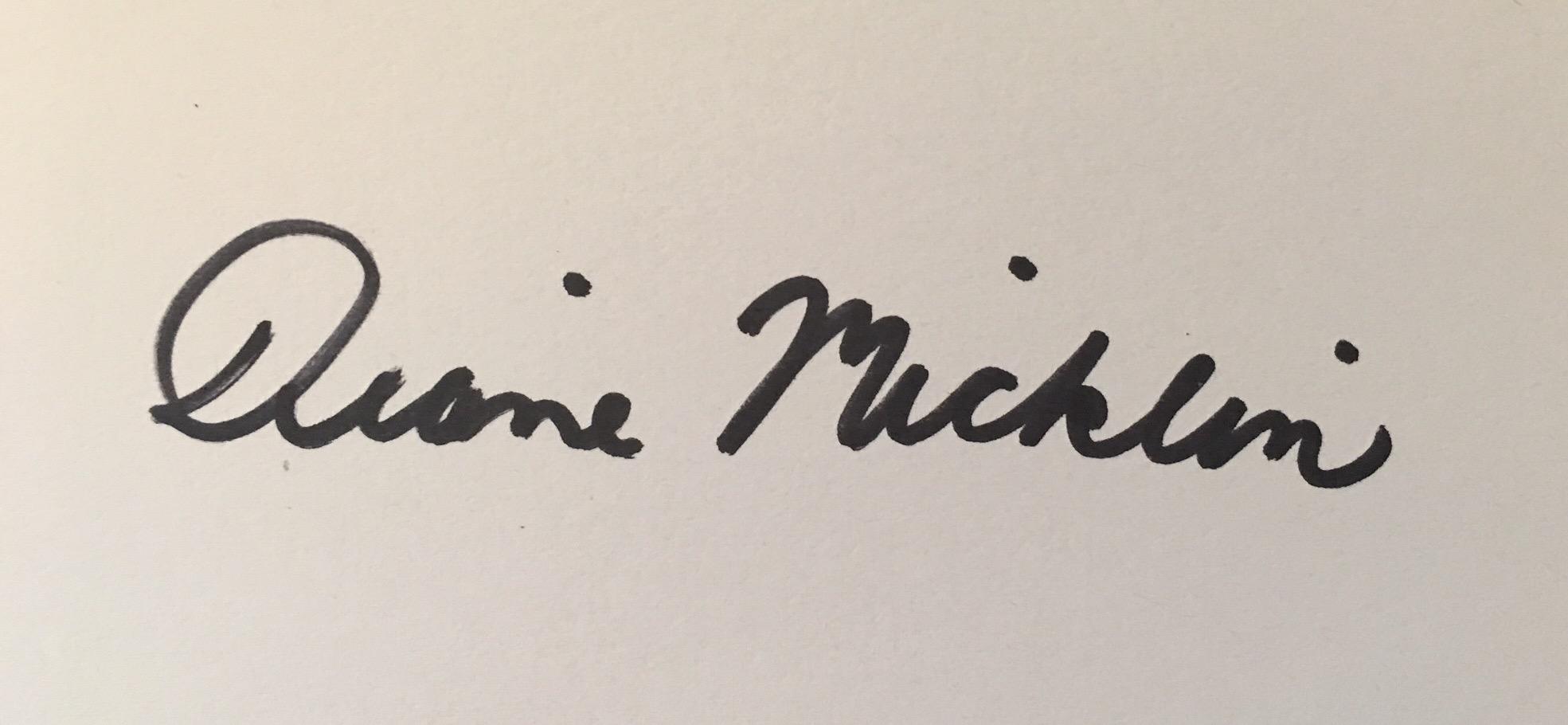 Diane Micklin's Signature
